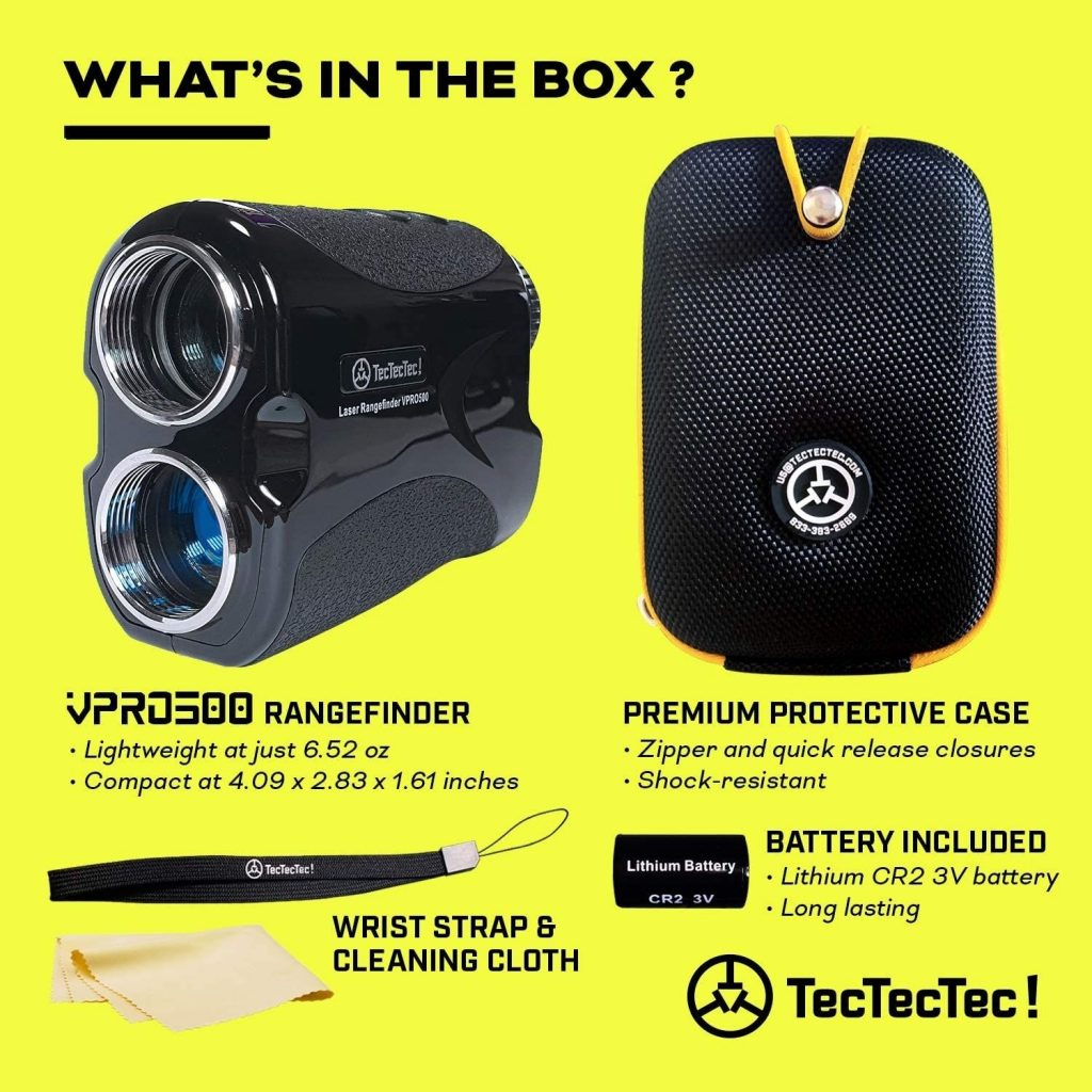 What you get When you Buy TecTecTec VPRO500 Golf Rangefinder